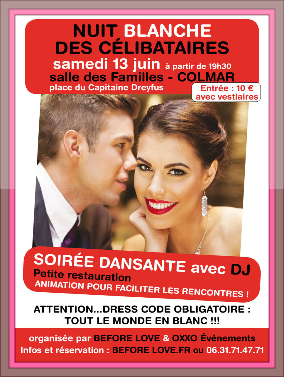 soir e dansante la nuit des c libataires 13 06 2015 beforelove speed dating c libataire. Black Bedroom Furniture Sets. Home Design Ideas